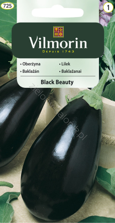 Oberżyna, bakłażan Black Beauty 2,0 g