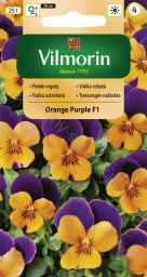 Fiołek rogaty Orange Purple F1